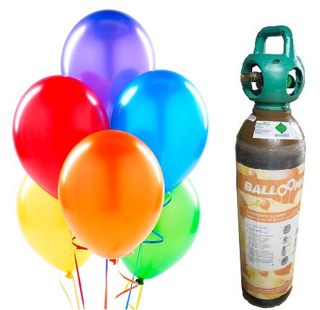 Heliumfles huren om helium ballonnen zelf op te blazen